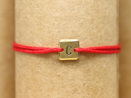 "Bracelet Mini lingot ""C"" c'too or jaune 18 carats"