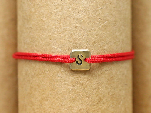 "Bracelet Mini lingot ""S"" c'too or jaune 18 carats"