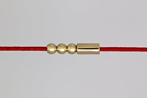 Bracelet morse lettre V c'too or jaune 18 carats