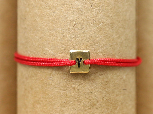 "Bracelet Mini lingot ""Y"" c'too or jaune 18 carats"