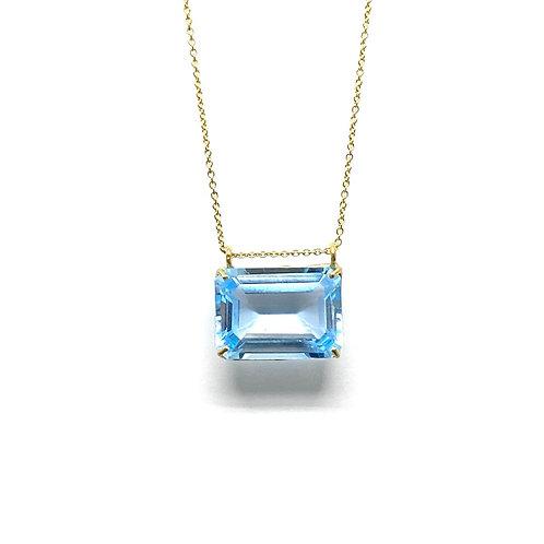 Pendentif Topaze bleu radiant