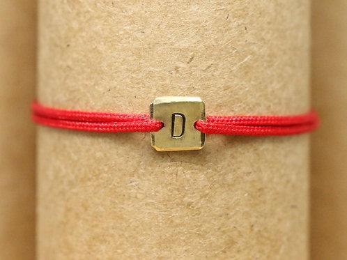 "Bracelet Mini lingot ""D"" c'too or jaune 18 carats"