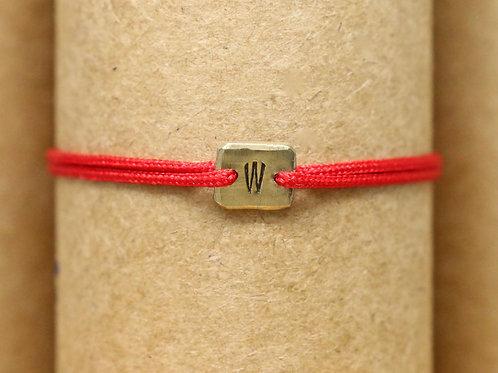 "Bracelet Mini lingot ""W"" c'too or jaune 18 carats"