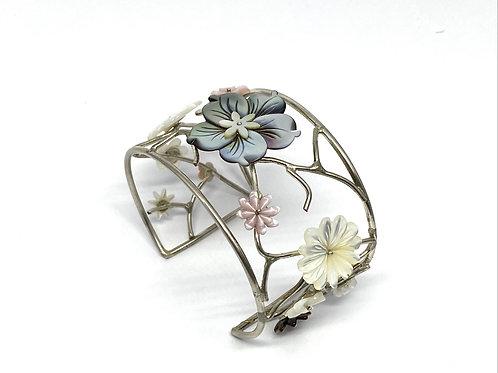 """Manchette Branches et fleurs """"Flower City"""""""