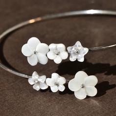 bracelet argent Luci Mendola Flower City 3