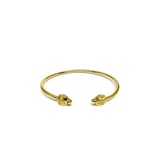 Bracelet jonc MOSAICA argent plaqué Or