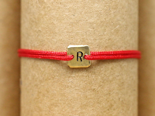 "Bracelet Mini lingot ""R"" c'too or jaune 18 carats"