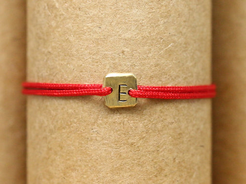 "Bracelet Mini lingot ""E"" c'too or jaune 18 carats"