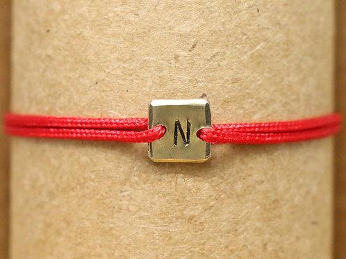 "Bracelet Mini lingot ""N"" c'too or jaune 18 carats"