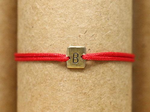 """Bracelet Mini lingot """"B"""" c'too or jaune 18 carats"""