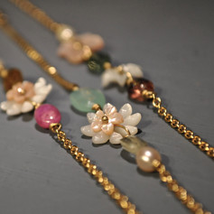 Bracelets or18ct Flower city