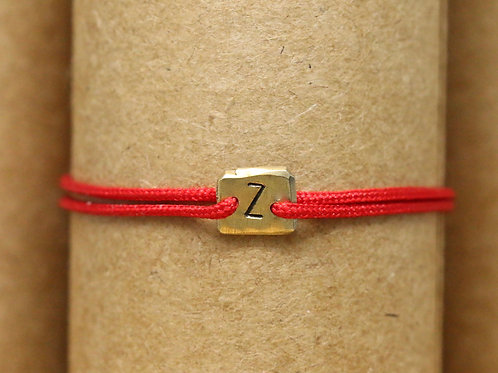 "Bracelet Mini lingot ""Z"" c'too or jaune 18 carats"