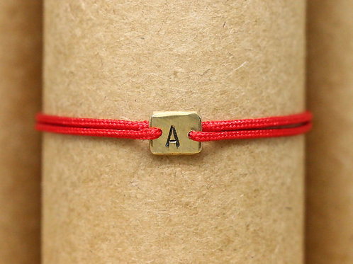 "Bracelet Mini lingot ""A"" c'too or jaune 18 carats"