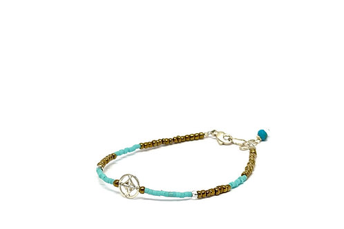 Bracelet Mini trésor voyage turquoise