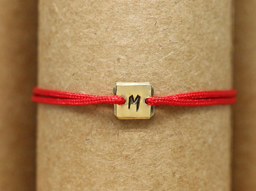 "Bracelet Mini lingot ""M"" c'too or jaune 18 carats"