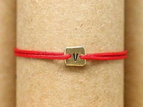 """Bracelet Mini lingot """"V"""" c'too or jaune 18 carats"""