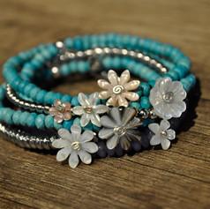 Bracelets bouquet agates Flower city