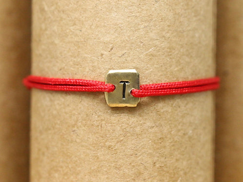 "Bracelet Mini lingot ""T"" c'too or jaune 18 carats"