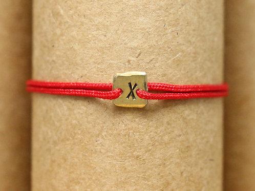 "Bracelet Mini lingot ""X"" c'too or jaune 18 carats"