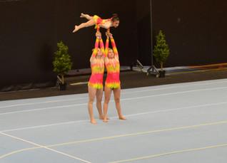 Acro trio Agios straalt in Zwolle
