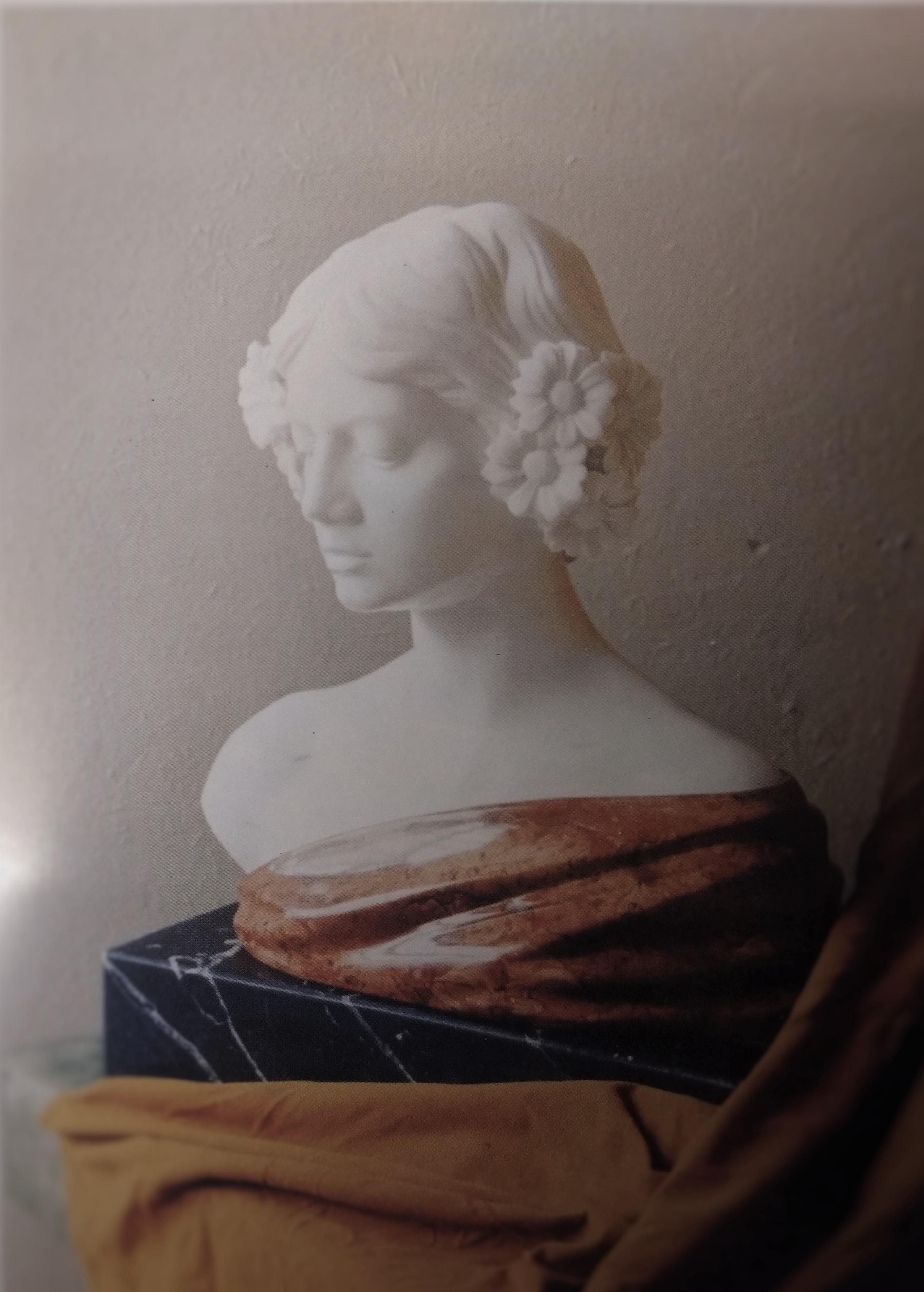 #Bust #Carrara #Marble #sculpture #Gargas