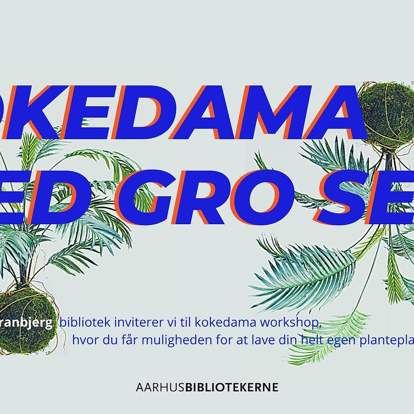 Kokedama på Tranbjerg bibliotek