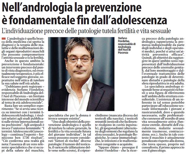 Nell'andrologia la prevenzione è fondamentale fin dall'adolescenza