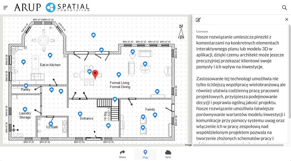 interaktywny system mapowania stworzony dla firmy ARUP