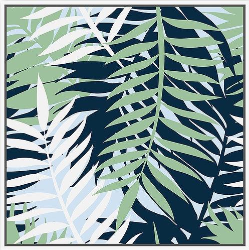 Calming Palm Leaves - 100x100cm