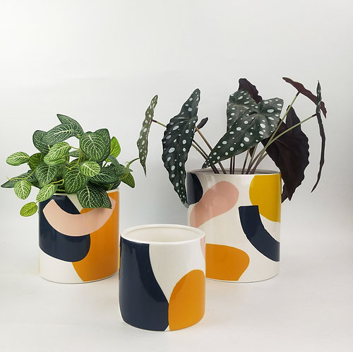 Elena Abstract Planters