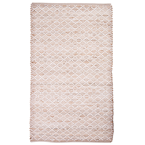 Jute and Cotton Diamond Rug