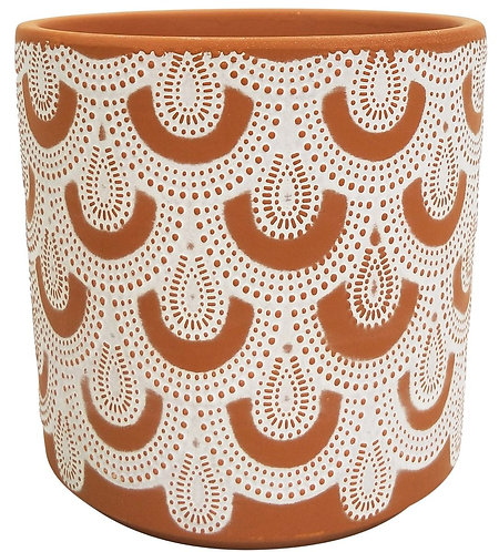 Gatsby Lace Planter Terracotta