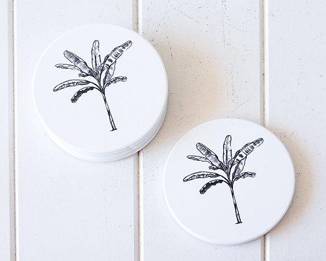 Banana Palm Solo Coasters