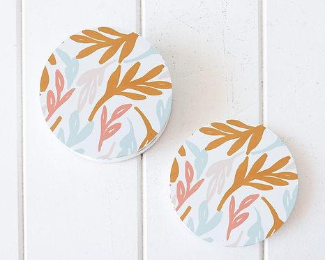 Bright Leaves Coasters