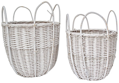 Cane Basket - White