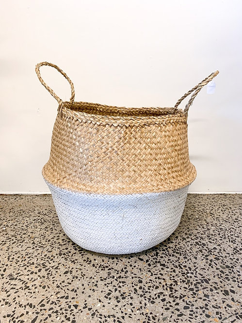 Belly Basket - White Stripe