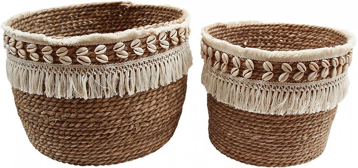 Shell Fringe Basket