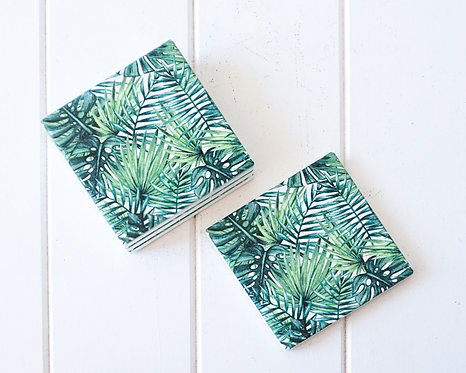 Palm Collage Coasters