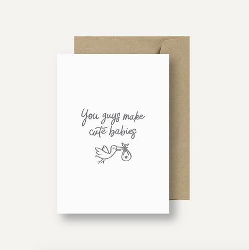 Card - Cute Babies