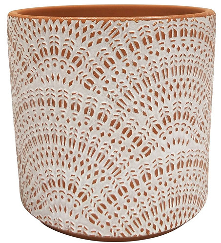 Torian Lace Planter Terracotta