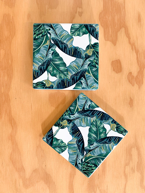 Coaster - Tropical Leaves