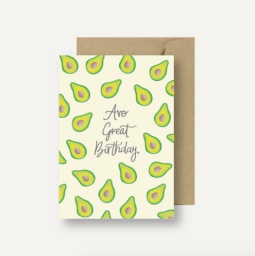Card - Avo Great Birthday
