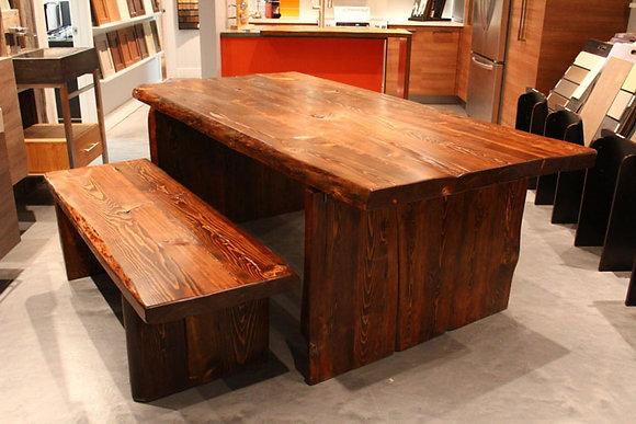 """Alexis Barnwood"" table & bench"