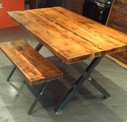 """Manhattan"" table & bench"
