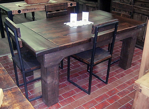 Rustic table and 4 chairs
