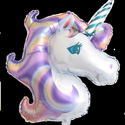 Purple Unicorn Head