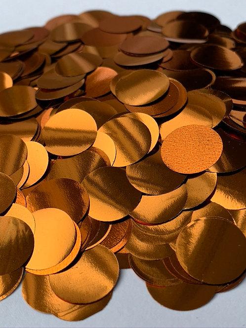 Orange Metallic Confetti