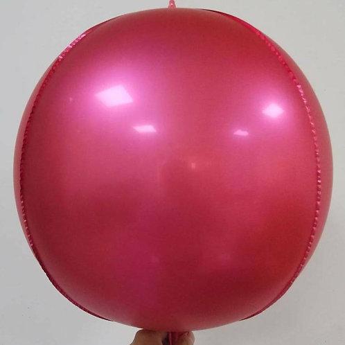 Metallic Red 4D Sphere