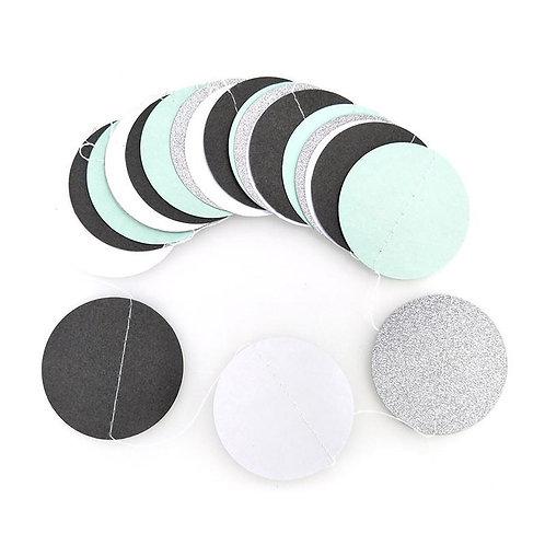 Circle - White + Black + Silver + Mint