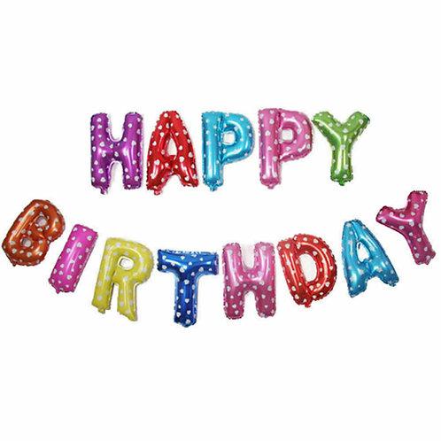 Multicoloured Shapes Happy Birthday